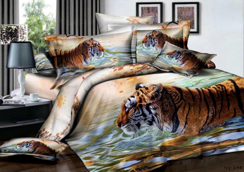 Сатин 2 Тигр на воде