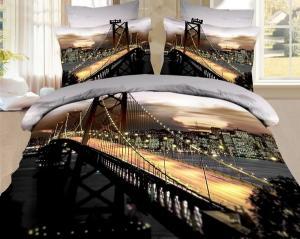 Фото Постельное белье, Из сатина 3D, Евро Сатин Евро Бруклинский мост