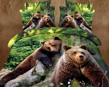 Сатин Евро Два медведя