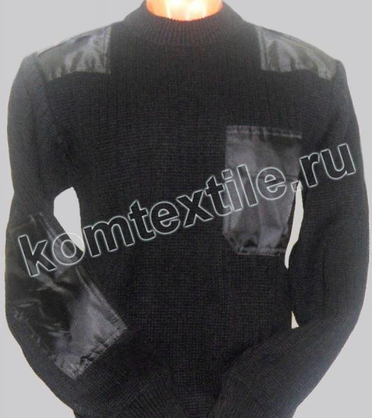 Свитер с нашивками черный