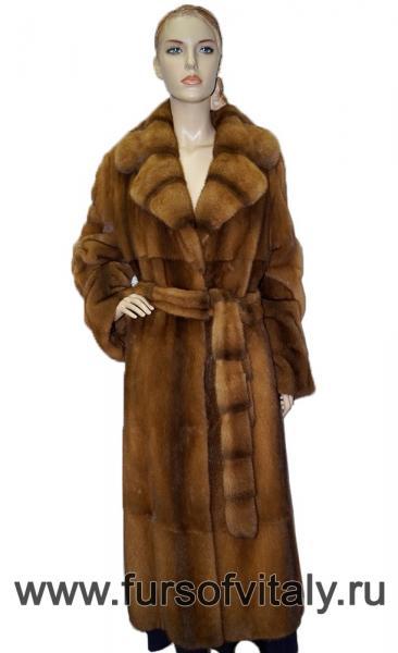 """Шуба из норки, модель """"Английское пальто"""""""