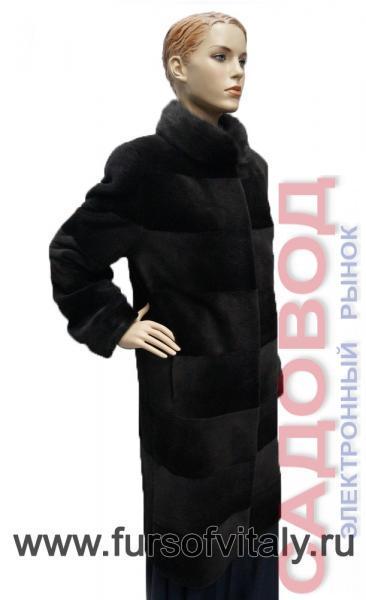 """Пальто из щипаной нутрии, модель """"Поперечка"""" Шубы из меха нутрии на рынке Садовод"""