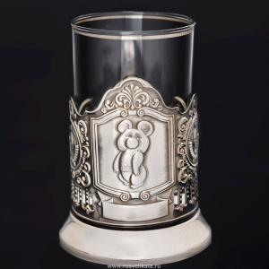 Фото Подстаканники, Подстаканники никелированные Олимпийский мишка