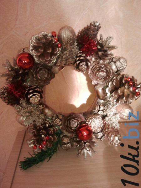 """Рождественский венок """"Красные шары"""" Новогодний декор на Электронном рынке Украины"""