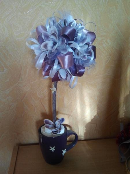 "Топиарий ""Цветочная чашка"""