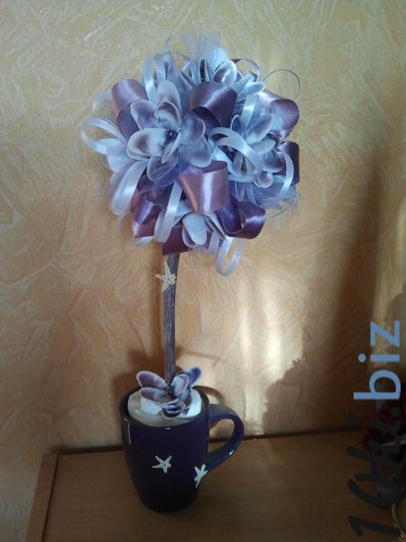 """Топиарий """"Цветочная чашка"""" Искусственные цветы и растения, композиции, топиарии в Украине"""