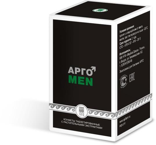 """""""АргоMeN"""" - мужское здоровье. Конфеты таблетированные с растительными экстрактами"""