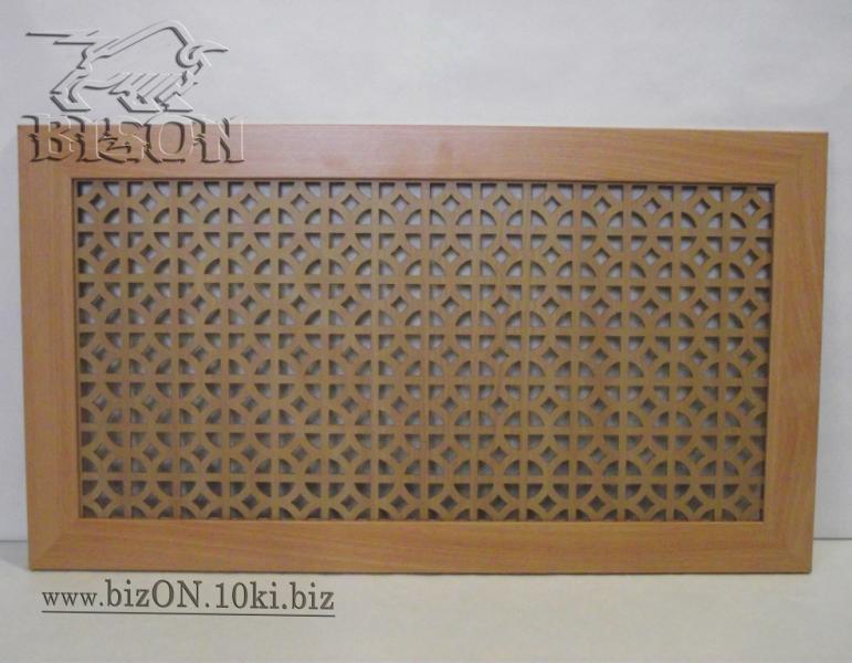 Декоративный экран на батареи «АЛЬБЕРТА» из перфорированного МДФ, цвет – Бук (светло-коричневый)