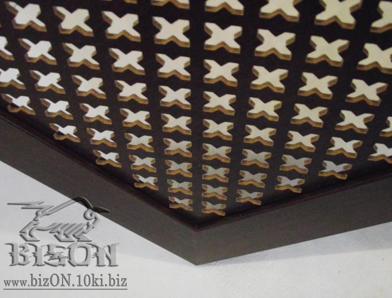 Фото Решетки ПВХ и Экраны МДФ для радиаторов отопления и декора Декоративный экран на батареи «КОЛУМБИЯ» из перфорированного МДФ, цвет – Орех (темно-коричневый)