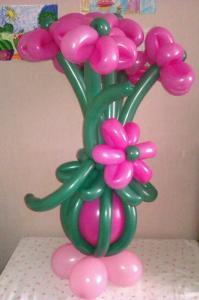 Фото Цветы из шариков букет цветов из 5 цветов