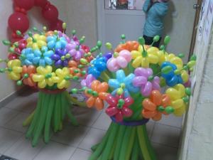Фото Цветы из шариков Букет цветов асорти количество цветков пожеланию
