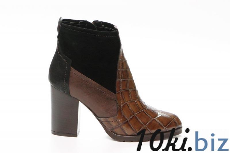 Ботильоны Aquarium 2179 коричневый/черный Ботильоны, ботинки женские в России