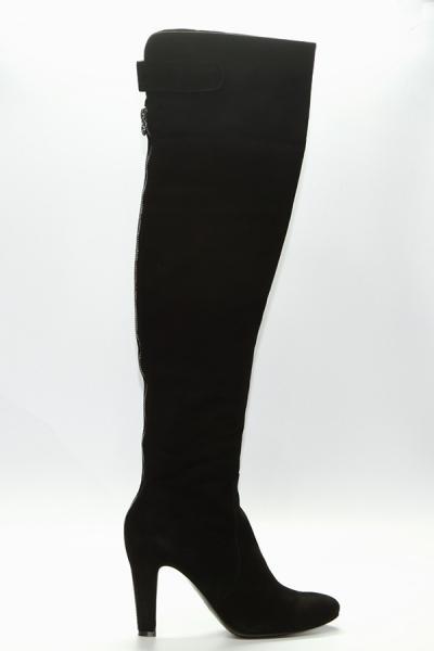 Ботфорты Nursace 2512 черный замша