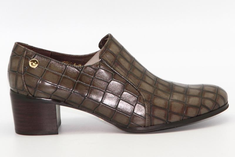 Туфли Renaissance 14106Z-4-4K оливковый крокодил
