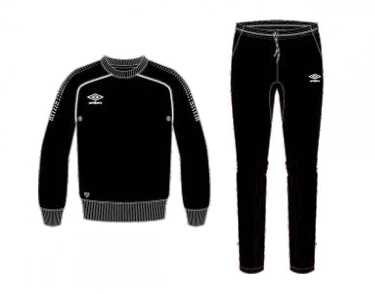 Тренировочный костюм 350415 Prodigy Team Poly Suit (611) черно-бело-белый
