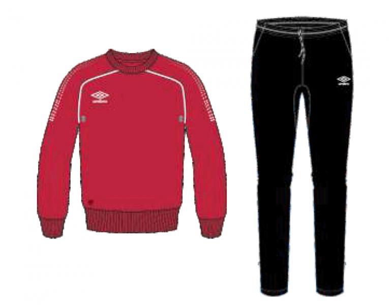 Тренировочный костюм 350415 Prodigy Team Poly Suit (261) красно-черно-белый