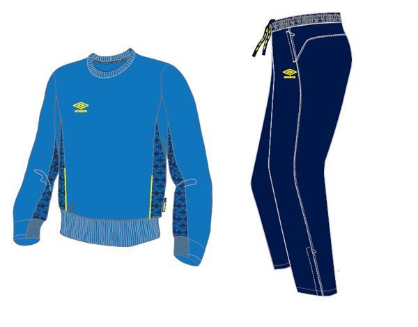 Тренировочный костюм 350414 Trofeo Poly Suit (793) сине-темносине-желтый
