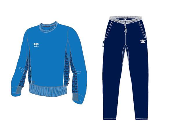 Тренировочный костюм 350414 Trofeo Poly Suit (791) сине-темносине-белый