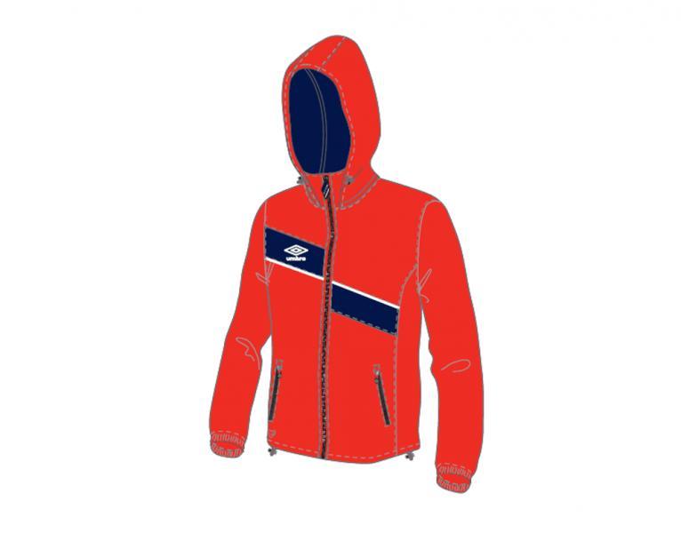 Ветрозащитная куртка 410114 Derby Shower Jacket (291) красно-темносине-белый