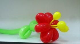 Фото Цветы из шариков цветок от 3шт
