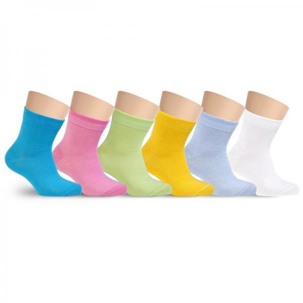 Носочки детские модные цветные хлопковые однотонные без рисунка LORENZ line Kids Л20