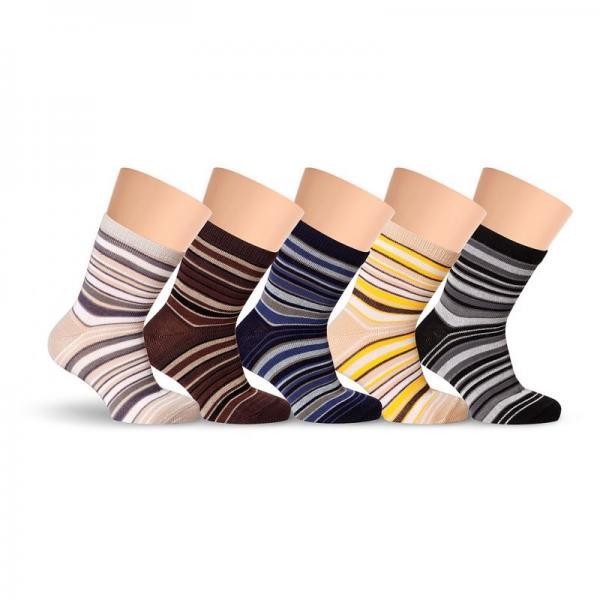 Носочки детские модные цветные хлопковые полосатые LORENZ line Kids Л31