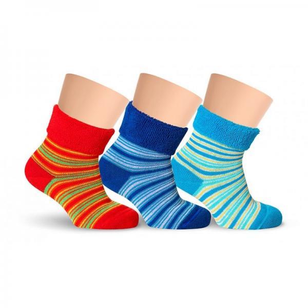 Носочки детские модные махровые цветные хлопковые полосатые LORENZ line Kids Л35