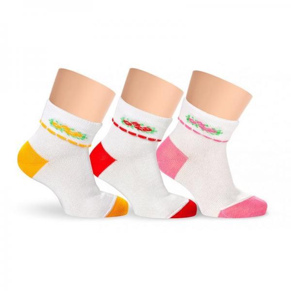 Носочки детские хлопковые с цветочками LORENZ line Kids Л16