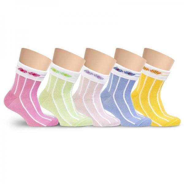 Носочки детские хлопковые с цветочками LORENZ line Kids Л18