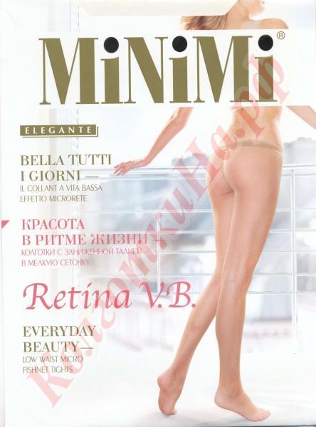 Колготки сетка MiNiMi Retina V.B. (vita bassa) с заниженной талией Код товара: К-446