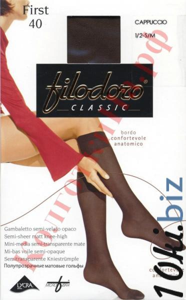 Гольфы со специальной резинкой Filodoro First 40 Код товара: К-264 Носки, гольфы, гетры женские в Москве