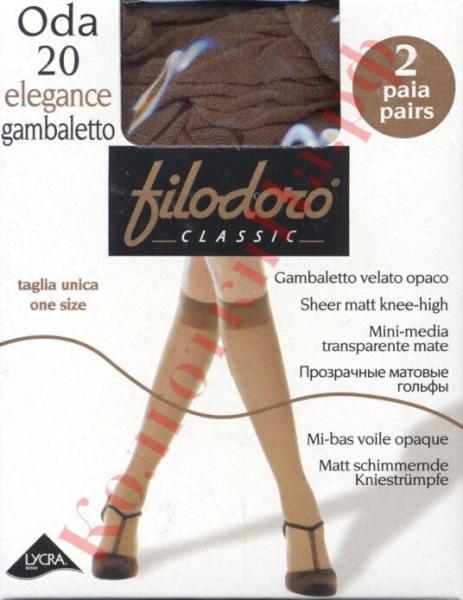 Гольфы классические Filodoro Oda 20 elegance gambaletto Код товара: К-265