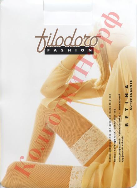 Чулки сетка Filodoro Retina autoreggente Код товара: К-150