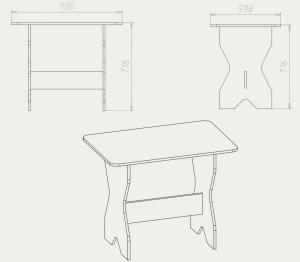 Фото Кухни, столы, табуретки, стулья и уголки, Столы производителя Компанит кс 1