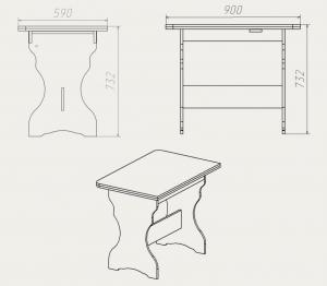 Фото Кухни, столы, табуретки, стулья и уголки, Столы производителя Компанит кс 3