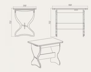 Фото Кухни, столы, табуретки, стулья и уголки, Столы производителя Компанит кс 4