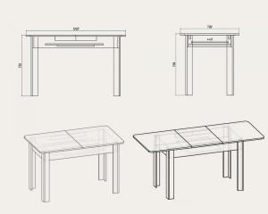 Фото Кухни, столы, табуретки, стулья и уголки, Столы производителя Компанит ск 5