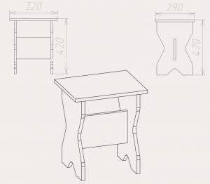Фото Кухни, столы, табуретки, стулья и уголки, Уголки и табуретки производителя Компанит т 1