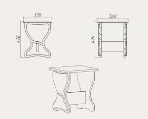 Фото Кухни, столы, табуретки, стулья и уголки, Уголки и табуретки производителя Компанит т 3