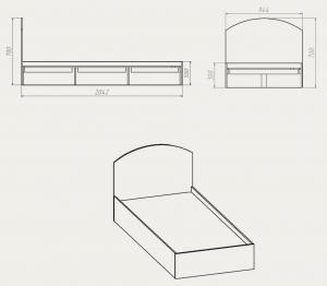 Фото Диваны, кровати и матрасы , Кровати производителя Компанит Кровать 90