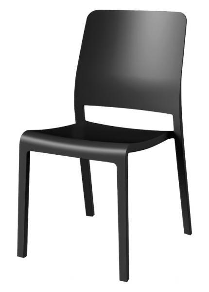 Стул пластиковый Charlotte Deco Chair, серый