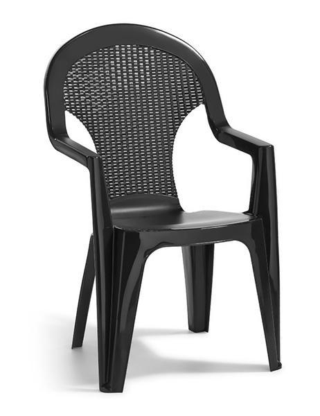 Стул пластиковый Santana, серый