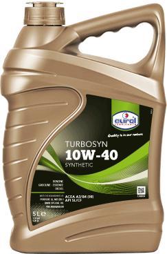 Полусинтетическое моторное масло Eurol Turbosyn 10W-40-5L