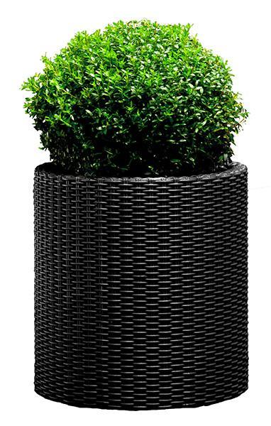 Горшок для цветов Cylinder Planter Large, серый