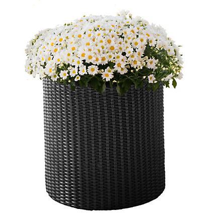 Горшок для цветов Cylinder Planter Small, серый
