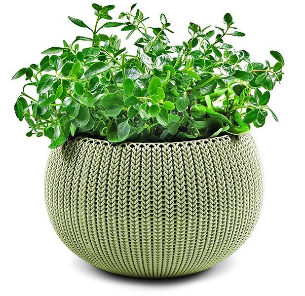 Кашпо Cozies М, зеленый