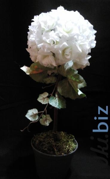 """Дерево счастья """"Белые розы"""" Искусственные цветы и растения, композиции, топиарии в Украине"""