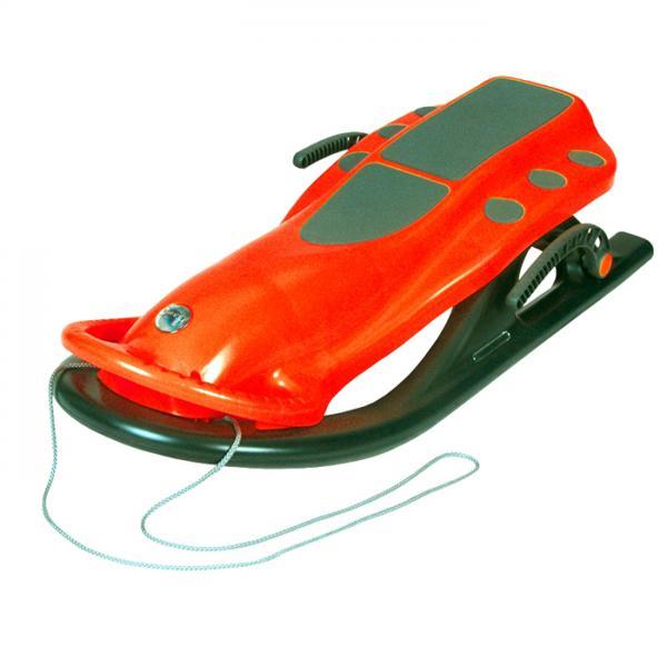 KHW Санки Snow Speed 20506  (оранжевые) с тормозом