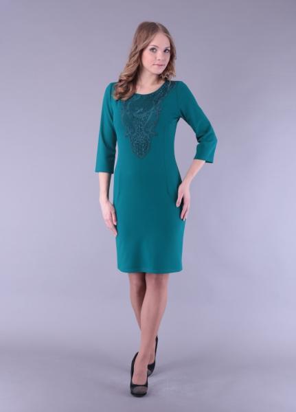 Платье Радуга с кружевом