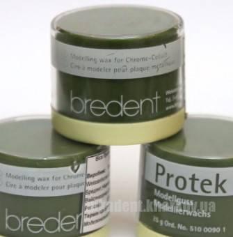 Фото Для зуботехнических лабораторий, МАТЕРИАЛЫ, Воска Protek wax (Протек) 25г. Bredent (Германия)